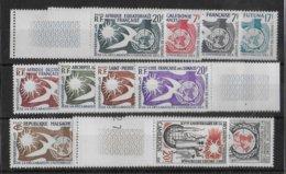 1958 - SERIE DROITS DE L'HOMME COMPLETE ** MNH - COTE = 45 EUR. - France (ex-colonies & Protectorats)