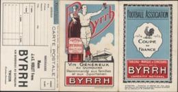 Carnet Football Association Coupe De France Foot 1934 1935 Coq Offert Byrrh Apéritif Quinquina Sportsmen Sportif - Vieux Papiers
