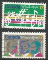 "Canada. 1980 Centenary Of ""O Canada"". Used Complete Set. SG 980-81 - 1952-.... Reign Of Elizabeth II"