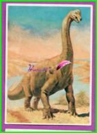 Image Chromo Chocolat POULAIN Série 27 Connaissance Des Dinosaure Image N° 2 Le Brachiosaure - Poulain