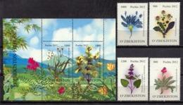 Uzbekistan 2012 / Flowers MNH Flores Fleurs Blumen / C10733  36-37 - Vegetales