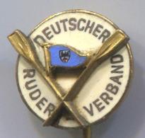 Rowing Canoe Kayak - Germany, Federation, Enamel, Vintage Pin, Badge, Abzeichen - Roeisport