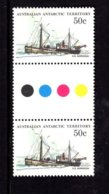 835929685 1974-81 SCOTT L50 POSTFRIS MINT NEVER HINGED EINWANDFREI (XX)  SHIPS GUTTERPAIR - Territoire Antarctique Australien (AAT)