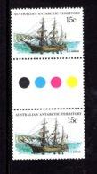 835929685 1974-81 SCOTT L41 POSTFRIS MINT NEVER HINGED EINWANDFREI (XX)  SHIPS GUTTERPAIR - Territoire Antarctique Australien (AAT)