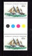 835929685 1974-81 SCOTT L49 POSTFRIS MINT NEVER HINGED EINWANDFREI (XX)  SHIPS GUTTERPAIR - Territoire Antarctique Australien (AAT)
