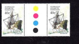 835929685 1974-81 SCOTT L48 POSTFRIS MINT NEVER HINGED EINWANDFREI (XX)  SHIPS GUTTERPAIR - Territoire Antarctique Australien (AAT)