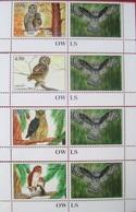 Tajikistan  2019  Owls  Eulen  4 V  Perforated + Labels  MNH - Owls