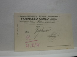 BRA   --- CUNEO --- FARINASSO CARLO  -- FERRAMENTA  - OTTONAMI - Cuneo