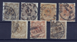 Deutsches Reich 45 A/b/c/ca/cb/d/e Gest., Alle Geprüft - Used Stamps
