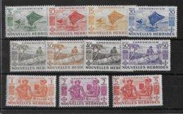 NOUVELLES HEBRIDES - YVERT N° 144/154 ** MNH - COTE = 115 EUR. - - Leyenda Francesa