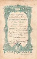 50-SAINT PIERRE EGLISE - ECOLE COMMUNALE - DISTRIBUTION DES PRIX 1912 - Saint Pierre Eglise