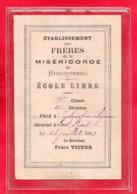 50-BRICQUEBEC - ETABLISSEMENT DES FRERES DE LA MISERICORDE - ECOLE LIBRE - 1883 - Bricquebec