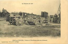 - Meurthe Et Moselle -ref-B648- Cirey Sur Vesouze - Voitures Et Mitrailleuses Pris Aux Allemands - Guerre 1914--18 - - Cirey Sur Vezouze