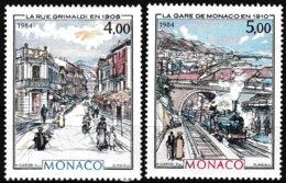 Série De 2 Timbres-poste Gommés Neufs** - Monte-Carlo Et Monaco à La Belle Époque - N° 1433-1434 (Yvert) - Monaco 1984 - Monaco
