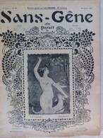 """Revue """"Sans-Gêne"""" 1901 Grivoise Femme Lady Glamour N° Spécial """"la Chasse"""" Cocu Cuckold Erotique Humour (5 Scans) - Livres, BD, Revues"""