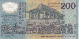 BILLETE DE SRY LANKA DE 200 RUPEES DEL AÑO 1998 DE POLYMERO  (BANKNOTE) - Sri Lanka