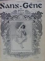 """Revue """"Sans-Gêne"""" 1902 Grivoise Femme Lady Glamour Prostituée Catin Cocu Cuckold Cornard Erotique Humour (4 Scans) - Livres, BD, Revues"""