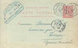Entier Postal - Semeuse Oblit. Cad Lille Son De Fives 1905, Cad Vinça, Tampon Commercial Pollet & Fils Fives-Lille - Marcophilie (Lettres)