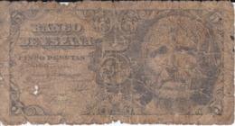 BILLETE DE ESPAÑA DE 5 PTAS DEL AÑO 1947 SERIE A CALIDAD RC   (BANKNOTE) - [ 3] 1936-1975 : Régimen De Franco