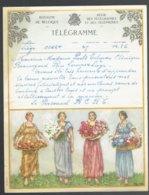 Lot De 6 Télégrammes Anciens époque 1950 - 1957 - Liège 2 - Perwez 2 - Warsage - Bressoux - Birth & Baptism