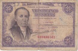 BILLETE DE ESPAÑA DE 25 PTAS DEL 19/02/1946 SERIE G  CALIDAD RC (BANKNOTE) - [ 3] 1936-1975: Franco
