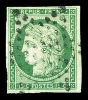 O N°2, 15c Vert Obl étoile. TB (signé Calves/certificat)  Qualité: O  Cote: 1050 Euros - 1849-1850 Ceres