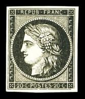 ** N°3, 20c Noir Sur Jaune, Fraîcheur Postale, SUP (certificat)  Qualité: ** - 1849-1850 Ceres