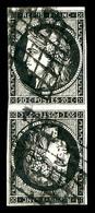 O N°3d, 20c Noir Sur Jaune En Paire Têtebêche Verticale. TB. R. (signé Calves/certificat)  Qualité: O  Cote: 8000 Euros - 1849-1850 Ceres