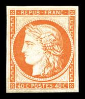 ** N°5g, 40c Orange, Impression De 1862, Fraîcheur Postale. SUP (certificat)  Qualité: ** - 1849-1850 Ceres