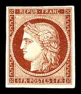 * N°6a, 1f Carmin Clair Impression Fine, Très Belle Nuance 'chaude', Grande Fraîcheur. SUPERBE. R.R. (signé Brun/certifi - 1849-1850 Ceres