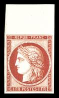 ** N°6f, 1f Carmin, Impression De 1862, Grand Bord De Feuille, Fraîcheur Postale. SUP (certificat)  Qualité: ** - 1849-1850 Ceres
