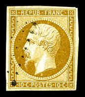 O N°9, 10c Bistrejaune, Jolie Pièce, TB (signé Brun/certificat)  Qualité: O  Cote: 850 Euros - 1852 Louis-Napoleon