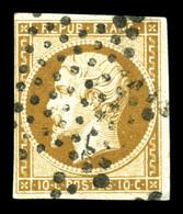 O N°9, 10c Bistrebrun Obl étoile, TB (signé Brun/certificat)  Qualité: O  Cote: 950 Euros - 1852 Louis-Napoleon
