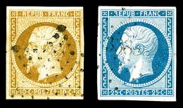 O N°9/10, La Paire Obl PC. TB (certificat)  Qualité: O  Cote: 845 Euros - 1852 Louis-Napoleon