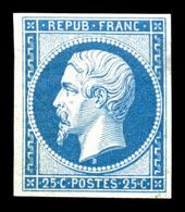 ** N°10c, 25c Bleu, Impression De 1862, FRAÎCHEUR POSTALE, SUP (certificat)  Qualité: ** - 1852 Louis-Napoleon