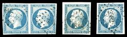 O 25c Presidence: 3 Exemplaires Dont Paire Et Bleu Foncé. TTB  Qualité: O  Cote: 245 Euros - 1852 Louis-Napoleon
