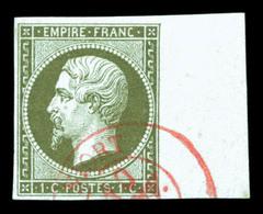 O N°11, 1c Empire, Obl Càd Rouge, Bord De Feuille Latéral. SUP (Signé Calves/Brun)  Qualité: O - 1853-1860 Napoleon III
