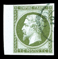 O N°11, 1c Olive, Bdf Latéral. TTB (signé Brun)  Qualité: O - 1853-1860 Napoleon III