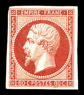 * N°17B, 80c Rose, Très Jolie Pièce. SUP. R. (signé Brun/certificat)  Qualité: *  Cote: 3800 Euros - 1853-1860 Napoleone III