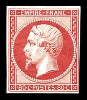 * N°17B, 80c Rose, Grande Fraîcheur. SUP. R. (signé Calves/certificat)  Qualité: *  Cote: 3800 Euros - 1853-1860 Napoléon III