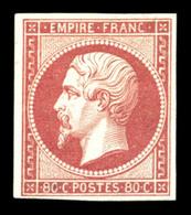 * N°17Ba, 80c Rosevif, Très Frais. SUP. R.R. (signé Margues/Calves/certificat)  Qualité: *  Cote: 4500 Euros - 1853-1860 Napoleone III