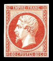 * N°17Bb, 80c Rosepâle, Grande Fraîcheur. SUP. R. (signé Brun/Scheller/certificat)  Qualité: *  Cote: 3800 Euros - 1853-1860 Napoleone III