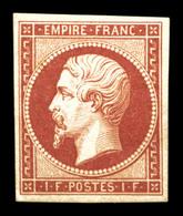 * N°18d, 1F Carmin, Impression De 1862, TB (certificat)  Qualité: *  Cote: 2400 Euros - 1853-1860 Napoléon III