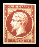 * N°18d, 1F Carmin, Impression De 1862, TB (certificat)  Qualité: *  Cote: 2400 Euros - 1853-1860 Napoleon III
