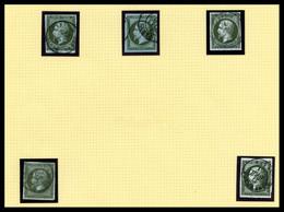 O Empire Non Dentelés, Collection De Timbres Oblitérés Et Lettres Entre N°11 Et N°17 Dont Nuances, Nombreuses Bonnes Val - 1853-1860 Napoléon III