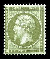 ** N°19, 1c Olive, Frais. SUP  Qualité: ** - 1862 Napoléon III