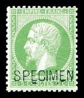 * N°20f, 5c Vert Surchargé 'SPECIMEN'. TTB  Qualité: *  Cote: 400 Euros - 1862 Napoléon III