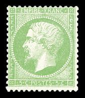 ** N°20g, 5c Vert Jaune Sur Verdâtre, Fraîcheur Postale. SUP (certificat)  Qualité: ** - 1862 Napoleon III
