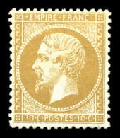 ** N°21, 10c Bistre, Fraîcheur Postale, Très Bon Centrage. SUP. R. (signé Calves/certificats)  Qualité: ** - 1862 Napoleone III