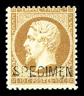 ** N°21c, 10c Bistre Surchargé 'SPÉCIMEN', Fraîcheur Postale, TTB (signé/certificat)  Qualité: ** - 1862 Napoleon III